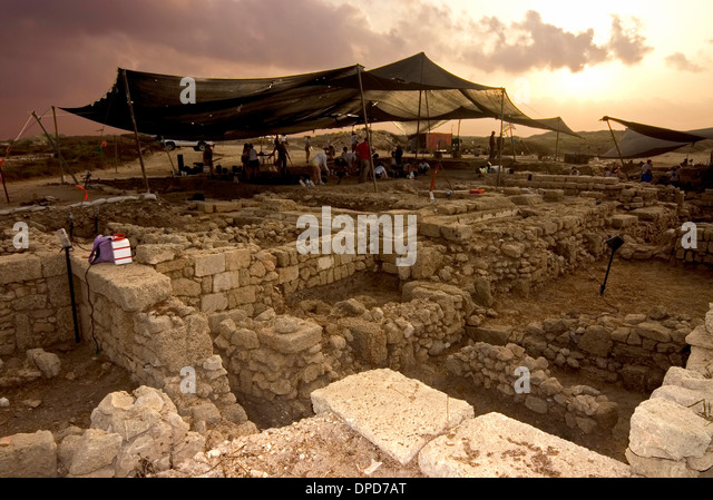 Archeology, excavation site , Israel - Stock Image
