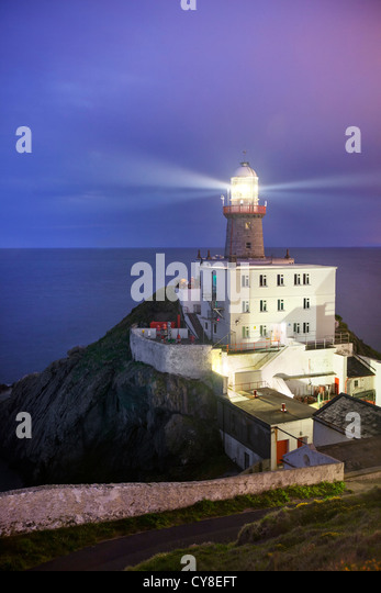Baily Lighthouse captured at Dusk. - Stock-Bilder