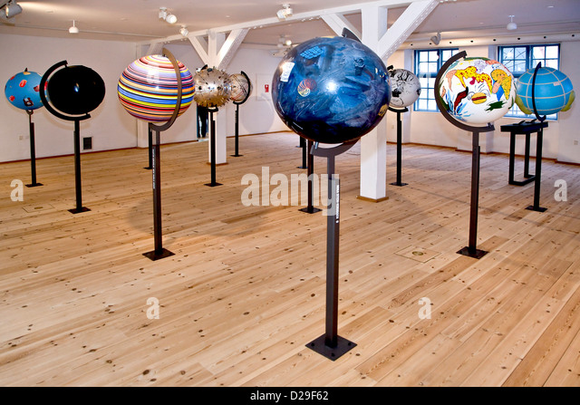 Artistically globes - Stock-Bilder