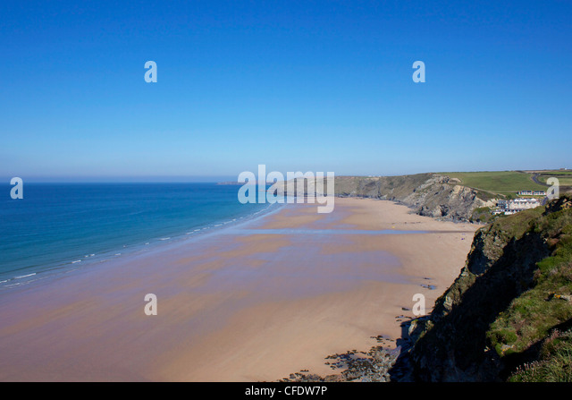 Watergate Bay, Newquay, Cornwall, England, United Kingdom, Europe - Stock Image