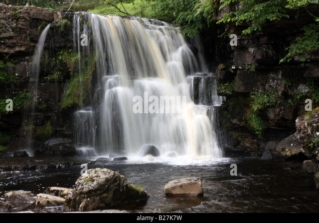 Upper Catrake Force in Swaldale North Yorkshire - Stock Image