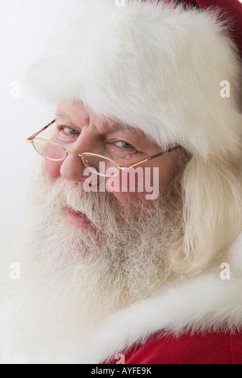 Close up of Santa Claus - Stock Image