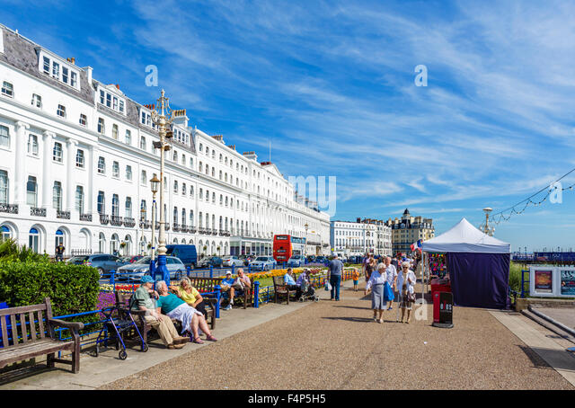 Grand Parade in Eastbourne, East Sussex, England, UK - Stock Image