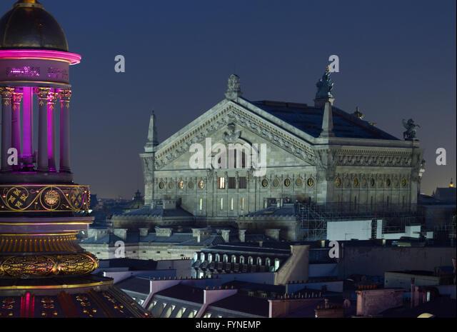 The Opera House at twilight Paris France - Stock Image