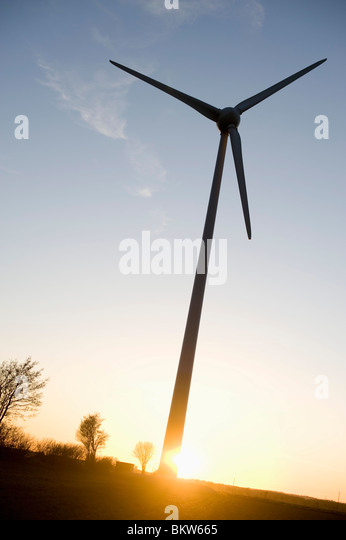 Lonely wind power station - Stock Image