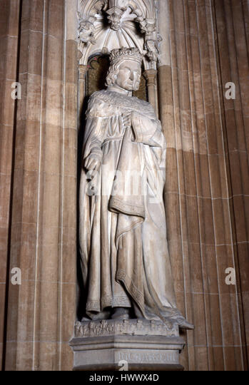 Statue of Richard lll in Houses of Parliament - Stock Image