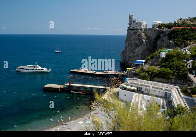Crimea, castle swallows nest - Stock Image