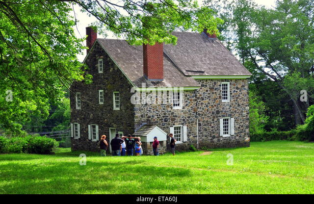 Chadds Ford, Pennsylvia:  The Benjamin Ring House used as headquarters by George Washington during the 1777 Revolutionary - Stock Image
