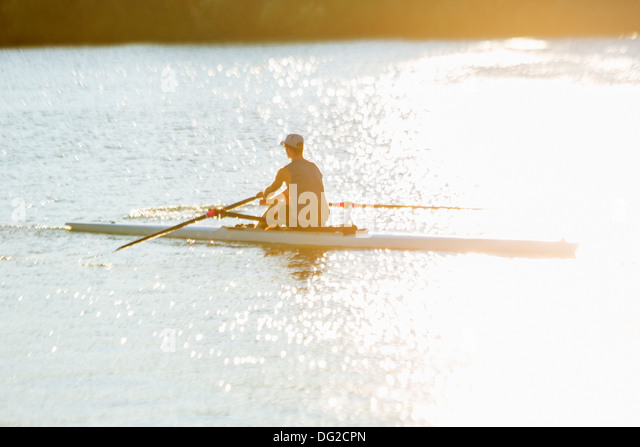 Canada,Ontario,Saint Catharines, Royal Henley Regatta, singles rowing - Stock Image