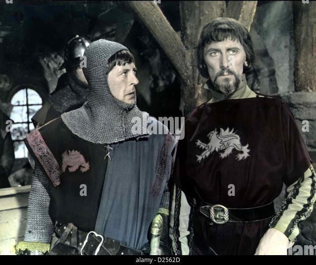 Das Schwert Des Robin Hood  Sword Sherwood Forest  Edwin Richfield, Peter Cushing Der Sheriff Von Nottingham (Peter - Stock Image