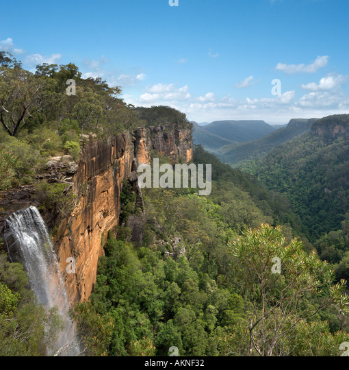 Fitzroy Falls and Yarrunga Valley, Morton National Park, Southern Highlands, New South Wales, Australia - Stock Image