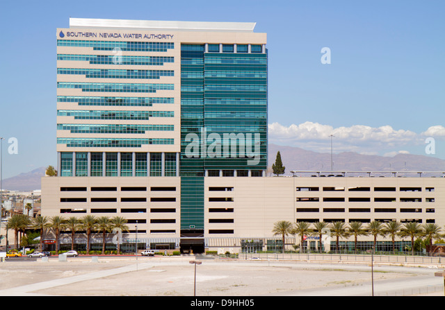 Nevada Las Vegas Downtown Southern Nevada Water Authority building - Stock Image