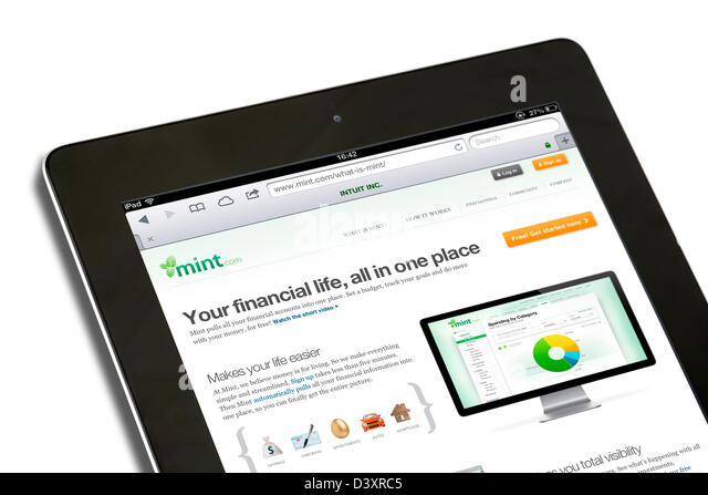 The mint.com web based financial management service, USA - Stock Image