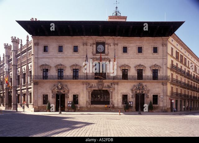 Palma de Mallorca, Rathaus, begonnen 1598 - Stock Image