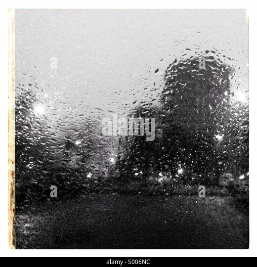 Italy rainy day in milan - Stock Image