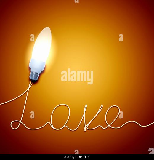 Love Light Bulb - Stock-Bilder