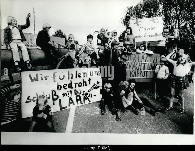 Jun. 06, 1973 - Demonstrations against NATO Gunnery Range in Nordhorn For a whole week Nordhorn's citizens demonstrated - Stock Image