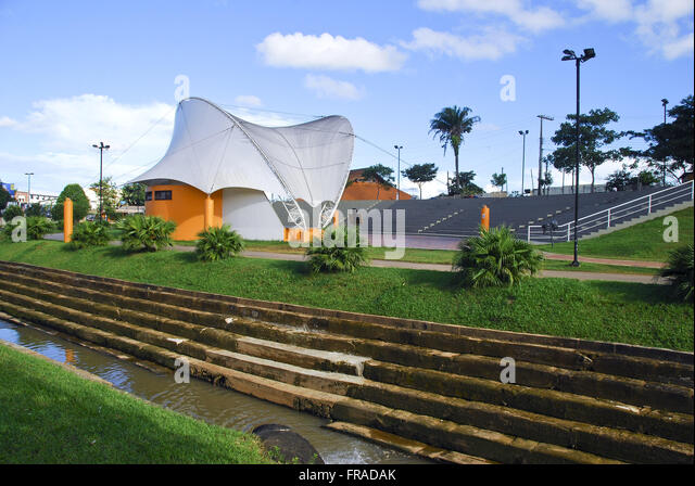 Canal Park and acoustic shell of Motherhood - Stock Image