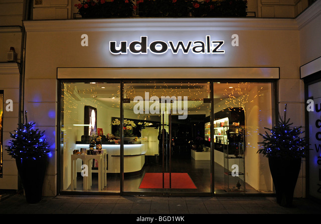Shop of celebrity hairdresser Udo Walz on the Kurfuerstendamm, Berlin, Germany, Europe - Stock Image