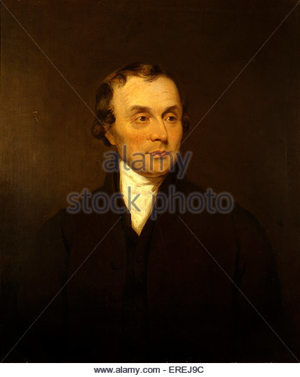 Luke Howard. Portrait painting by unknown artist. Courtesy of Royal Meteorological  Society, England. British manufacturing - Stock Image