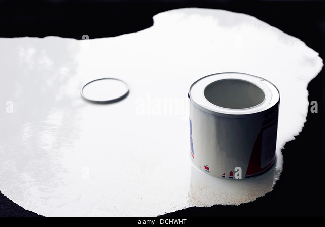 White paint - Stock Image