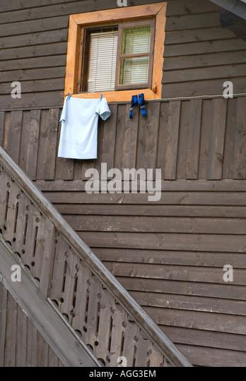 Staircase krakow stock photos staircase krakow stock images alamy - Traditional polish houses wood mastership ...