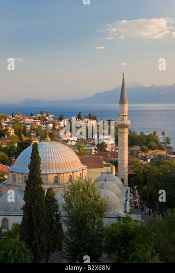 Tekeli Mehmet Pasa Mosque, in the historic district of Kaleici, Antalya, Turkey - Stock Image