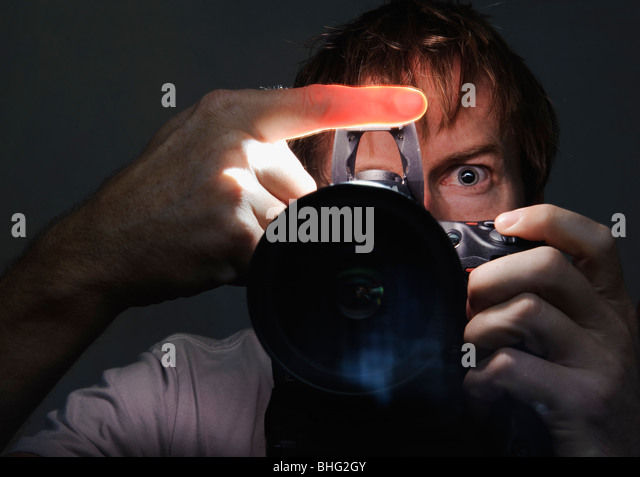 self portrait of a man - Stock Image