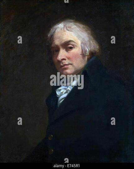 Self Portrait - by George Romney, 1795 - Stock Image