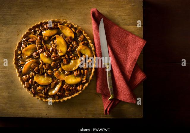Apple Pecan Tart - Stock-Bilder