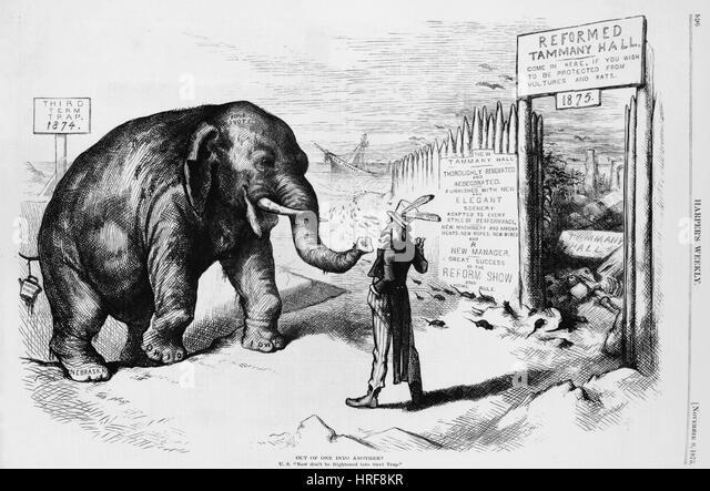 Tammany Hall political humor - Stock Image