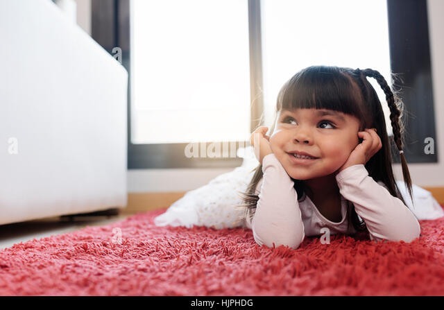 Happy pretty girl smiling. - Stock Image