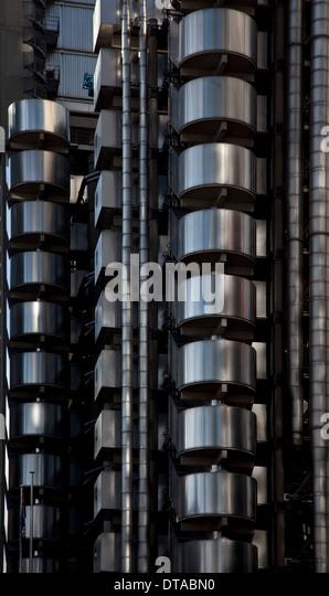 London, LLOYD`S BUILDING - Stock Image