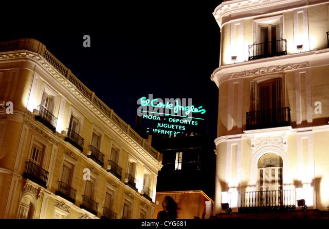 Ingles stock photos ingles stock images alamy for Corte ingles plaza del sol madrid