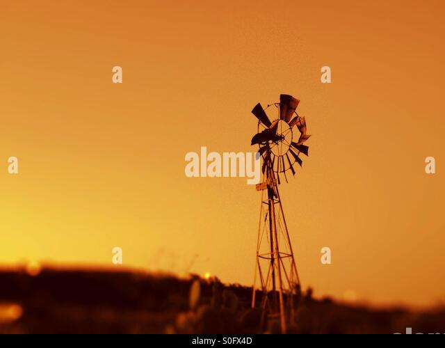 Windmill on Gozo, Malta. - Stock Image
