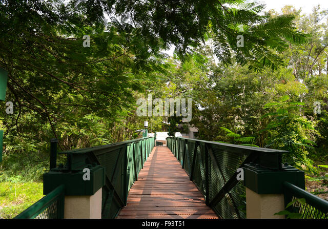 Bridge at the Tibes Indigenous Ceremonial Center. Ponce, Puerto Rico. Caribbean Island. USA territory - Stock Image