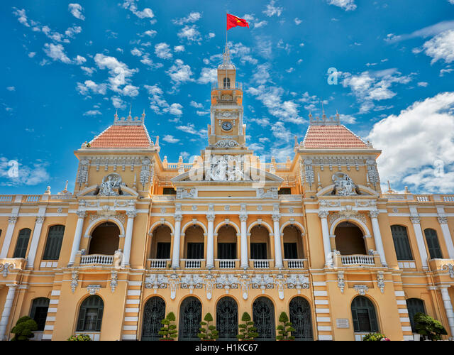 People's Committee Building. Ho Chi Minh City, Vietnam. - Stock Image