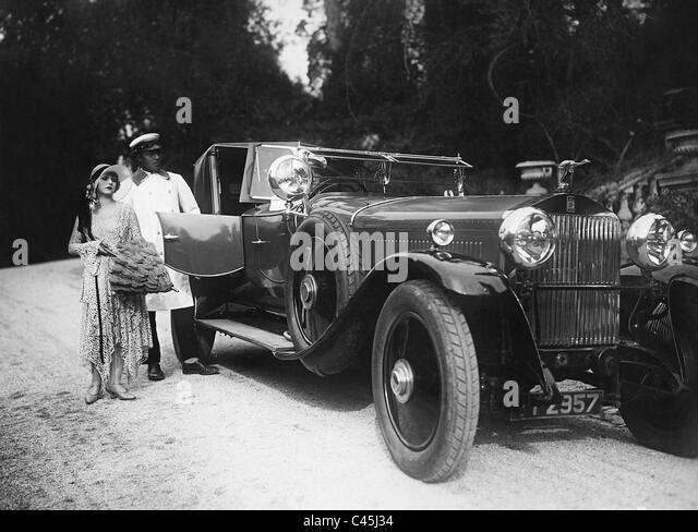 Maly Delschaft in a movie scene, 1930 - Stock-Bilder