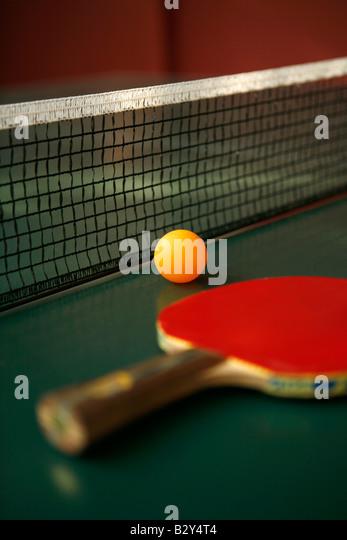 table tennis bat - Stock Image