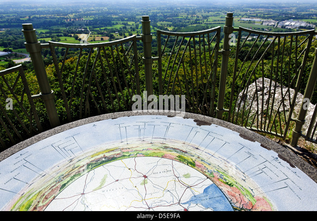 Looking south from the viewpoint near la Petite Chapelle, Hill 314, Mortain, Normandy, France - Stock Image