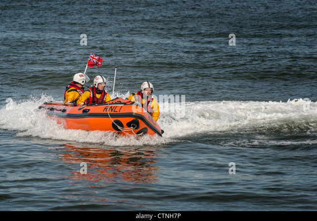 RNLI inshore rescue craft - Stock Image
