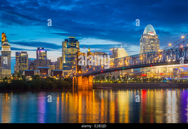 Cincinnati is the third largest city in Ohio and the 28th largest city in the United States - Stock Image