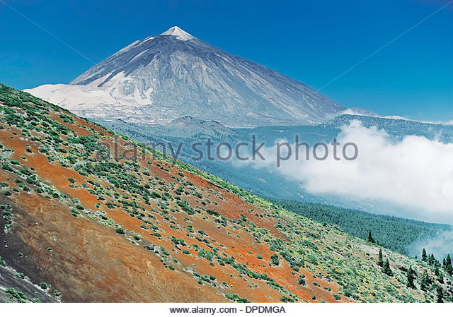 Teide mountain, Tenerife, Canary Islands, Spain - Stock Image