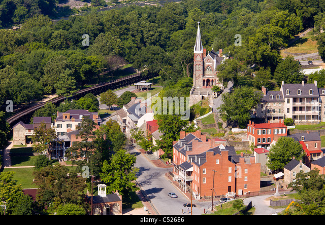 Harpers Ferry in Jefferson County, West Virginia - Stock Image