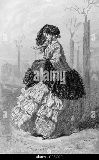 LA BOURGEOISE         Date: circa 1840 - Stock Image