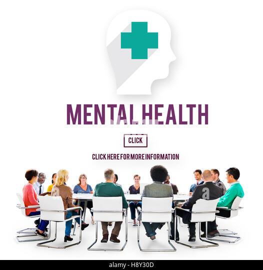Mental Health Emotional Medicine Psychology Concept - Stock Image