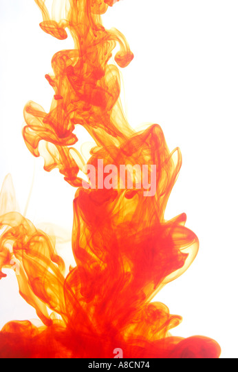 Abstract pattern of ink in water - Stock Image