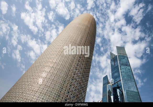 Burj Qatar Building, Doha, Qatar, Middle East - Stock Image
