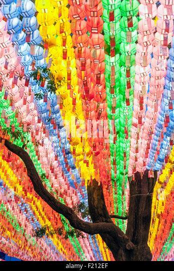 Lotus Lantern Festival Lanterns Stock Photos & Lotus ...