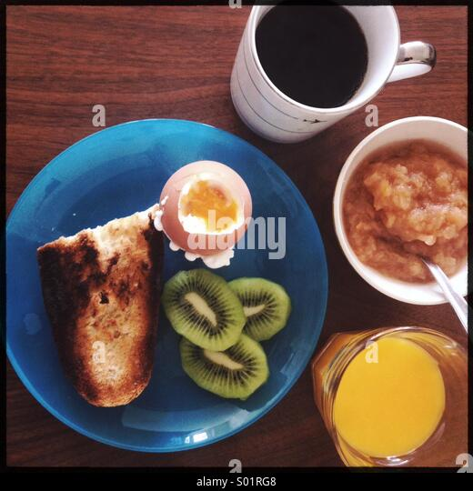 Diet breakfast - Stock Image